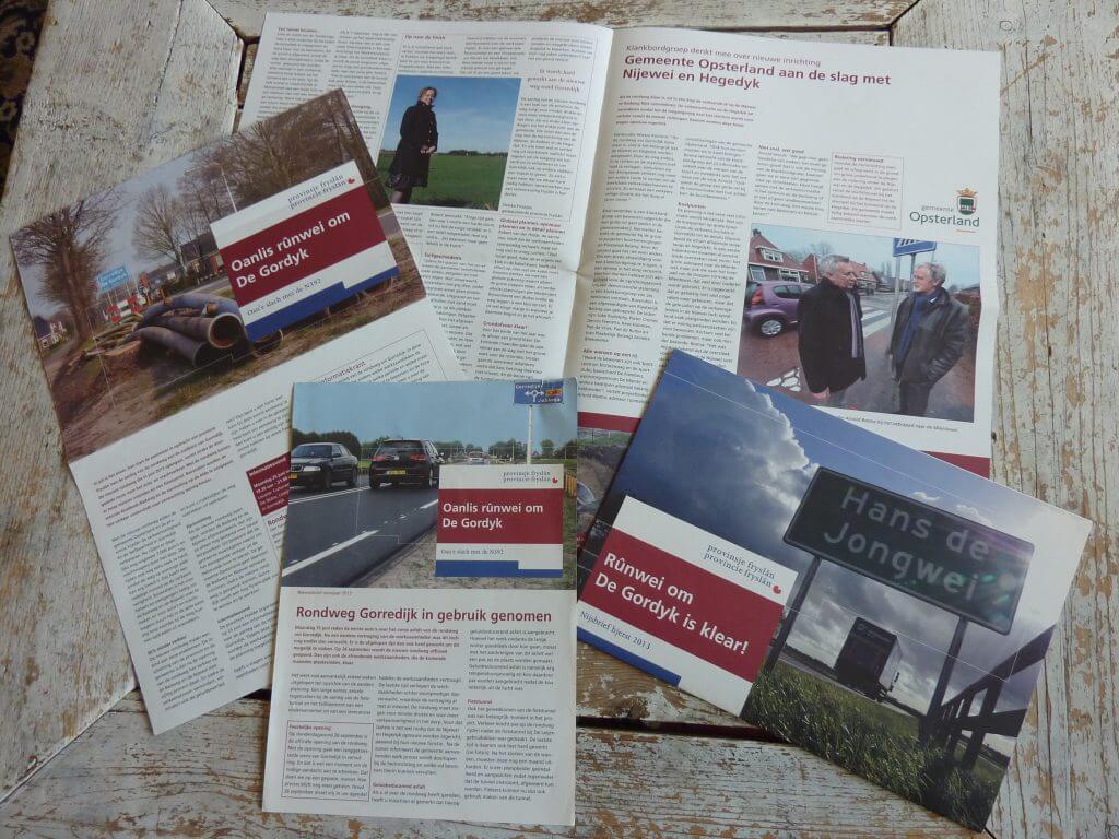 Een Zaak Van Communicatie - Jeroen Tollenaar, provincie Friesland, nieuwsbrief rondweg Gorredijk, i.o.v. Senza Communicatie