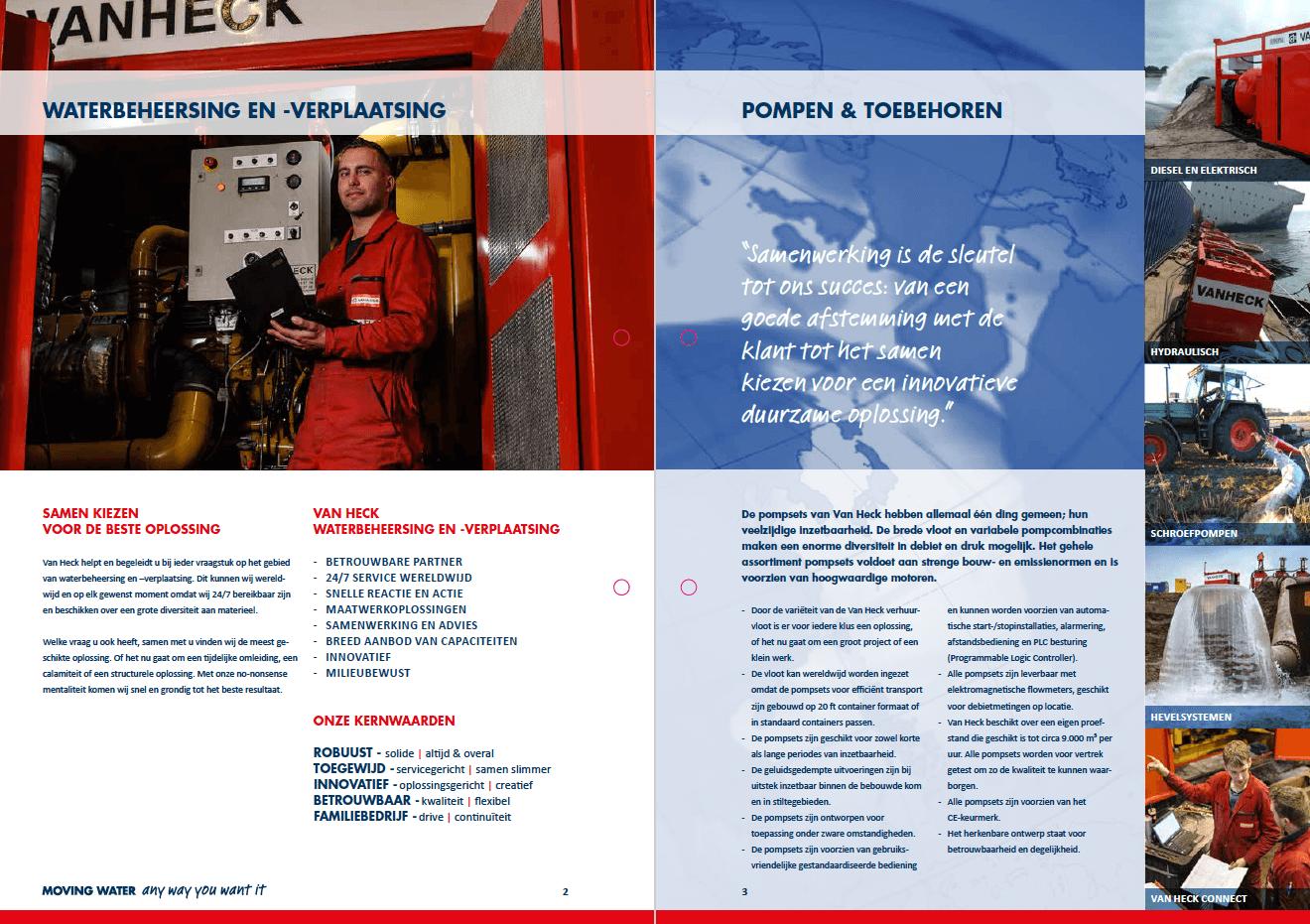 VAN HECK, leaflet pompen (spread)