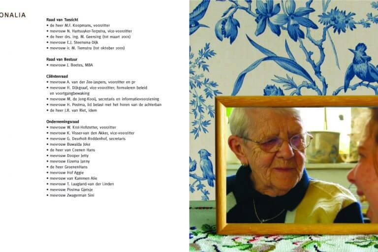 tekst, concept en begeleiding opmaak en drukwerk, Thuiszorg Het Friese Land jaarverslag 2001