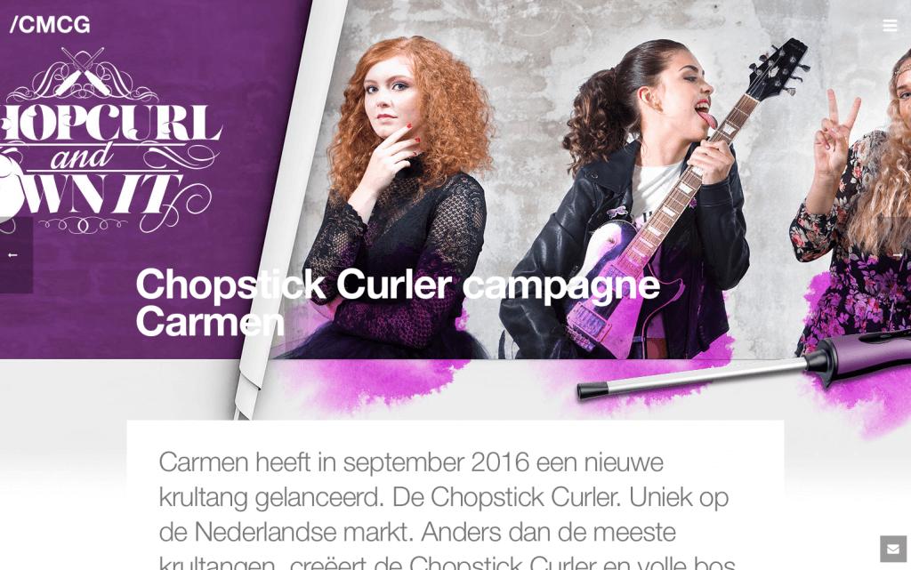 Carmen Chopstick Curler, portfolio CMCG