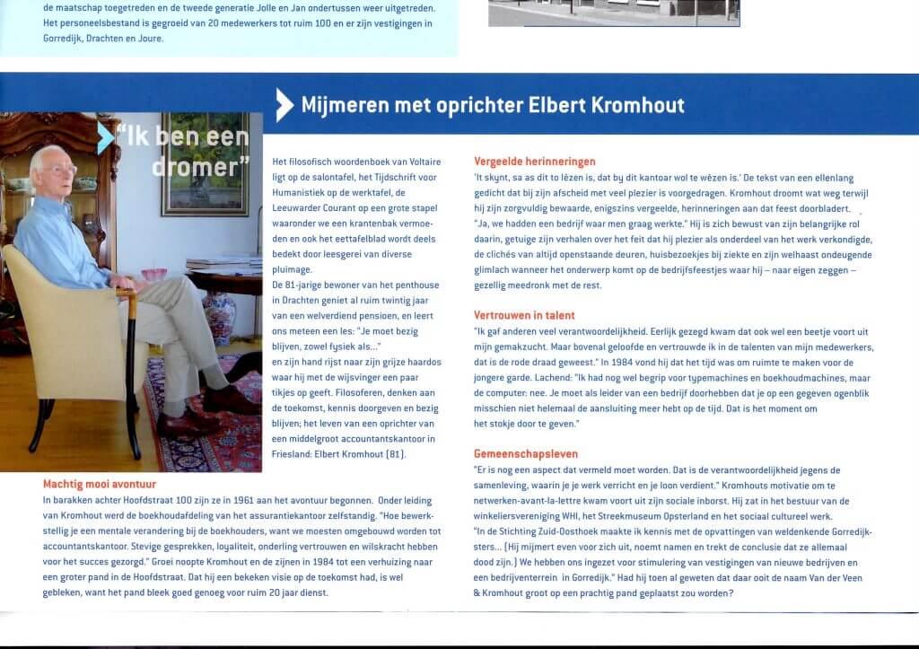 Nieuwsbrief Op Koers portret Elbert Kromhout 2005