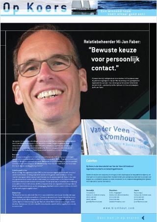 teksten Van der Veen & Kromhout - Op Koers - portret Mi-Jan Faber