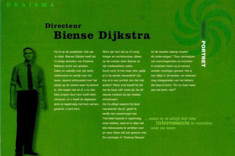 Biense Dijkstra, Dijkstra-Draisma, portret, 2001