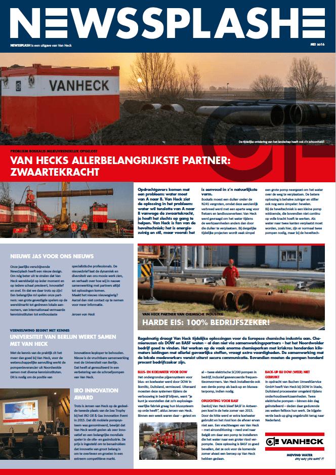 Van Heck - NewsSplash 2016 NL voorkant