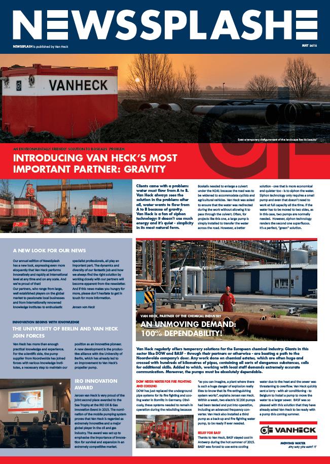 Van Heck - NewsSplash 2016 ENG voorkant