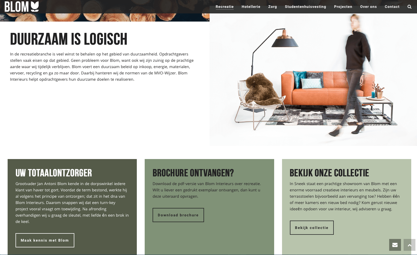 Website Blom Interieurs – Een Zaak Van Communicatie | Tekst? Een ...
