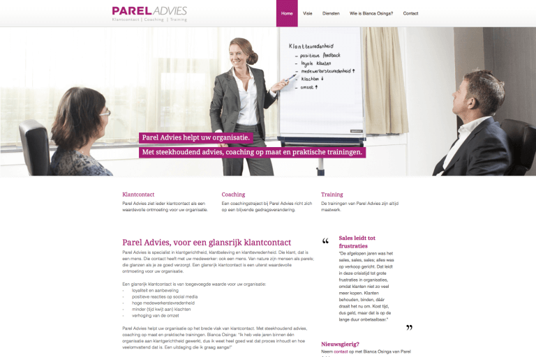 Website Parel Advies