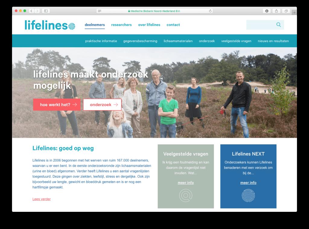 Lifelines website, tekst: Jeroen Tollenaar