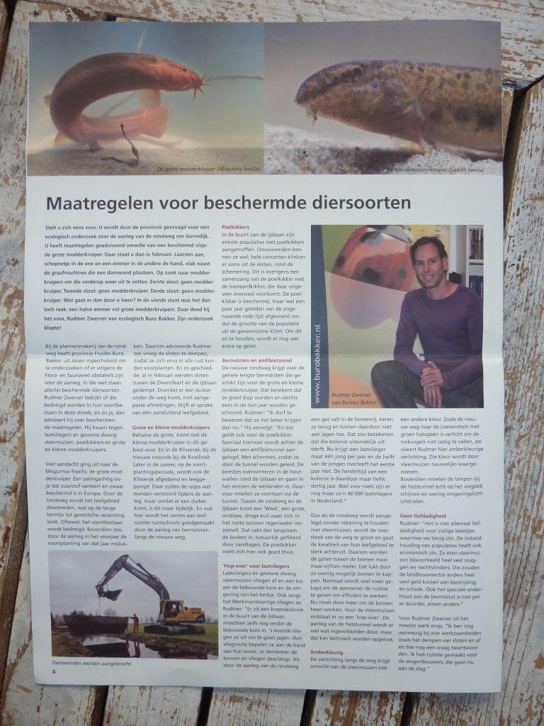 Nieuwsbrief aanleg rondweg Gorredijk, tekst: Jeroen Tollenaar