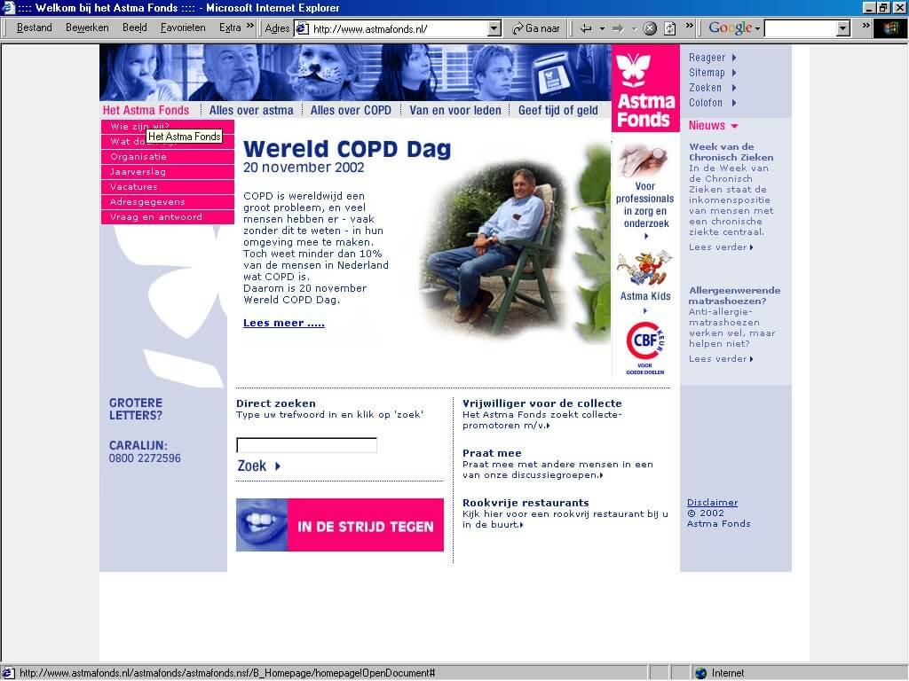 Website Astmafonds