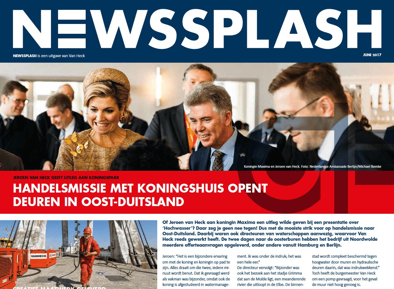 Een Zaak Van Communicatie - Jeroen Tollenaar, Van Heck - NewsSplash 2017 NL voorkant openingsartikel Maxima en Jeroen
