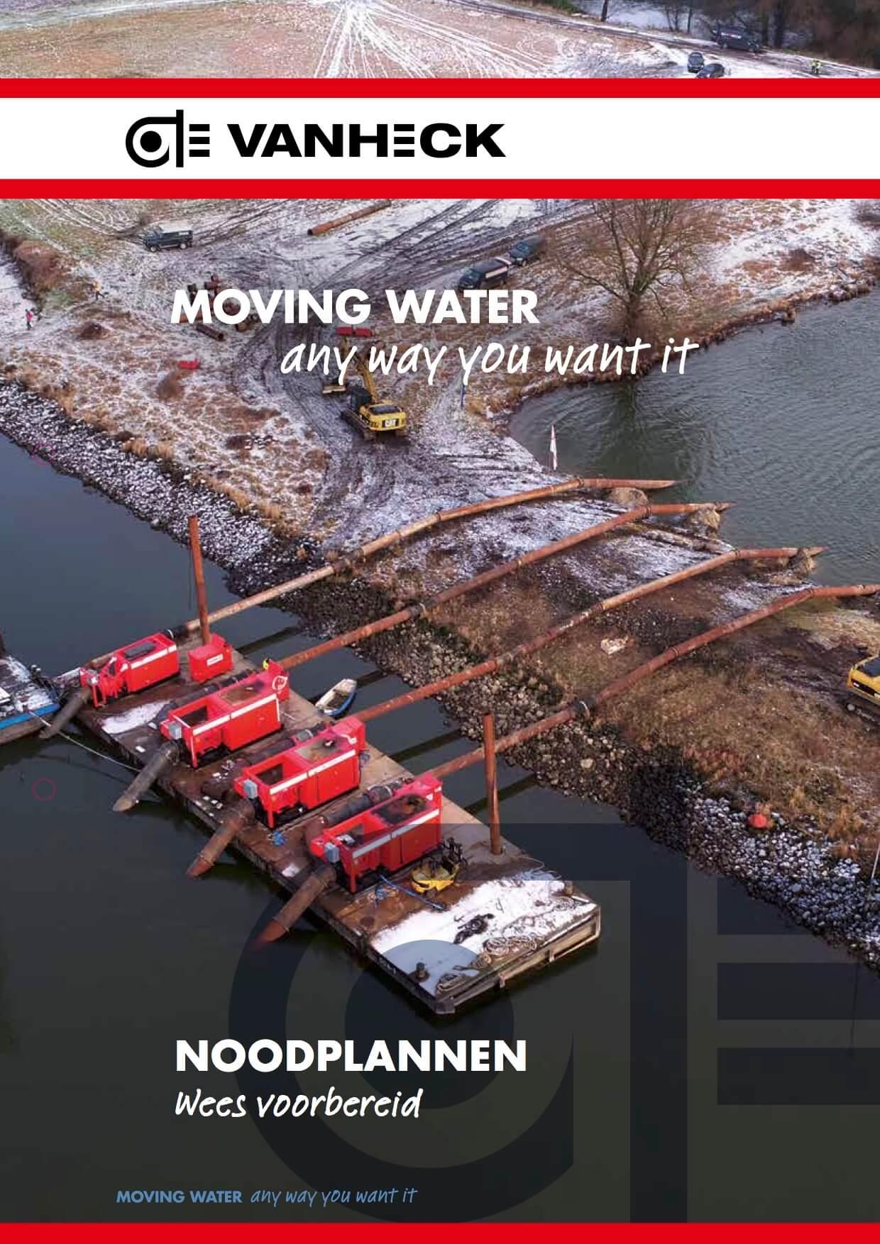 VAN HECK, leaflet noodplannen (voorkant)