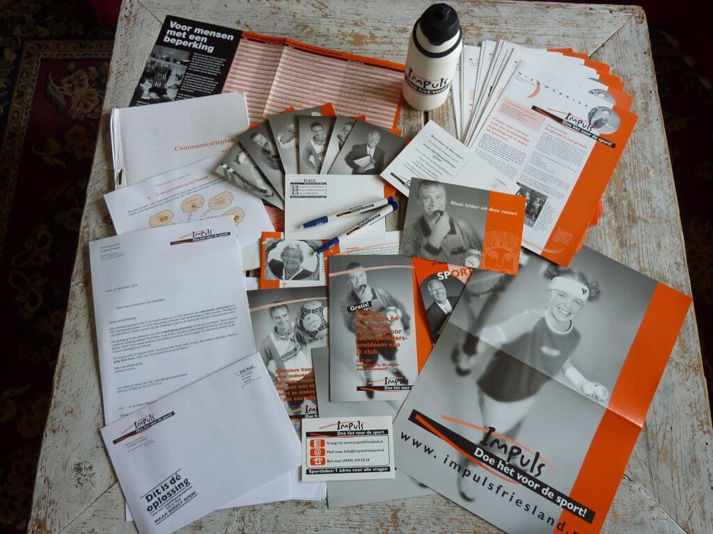 Een Zaak Van Communicatie - Jeroen Tollenaar, Impuls, breedtesportproject gemeenten Skarsterlân, Sneek, Lemsterland en Heerenveen, concept, communicatieplan, logo, huisstijl, slogan, folders, nieuwsbrief, campagnes 2