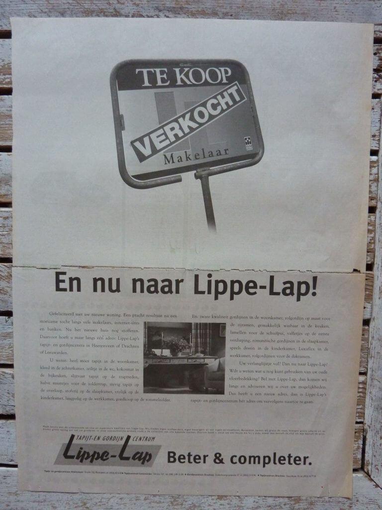 Een Zaak Van Communicatie - Jeroen Tollenaar, Lippe-Lap Tapijt- en gordijncentrum, advertentie 5, i.o.v. Bokma Reclame