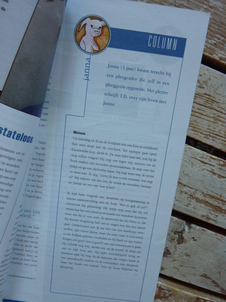 Een Zaak Van Communicatie - Jeroen Tollenaar, Mobiel, blad voor pleegzorg, columns 1, i.o.v. Mobiel