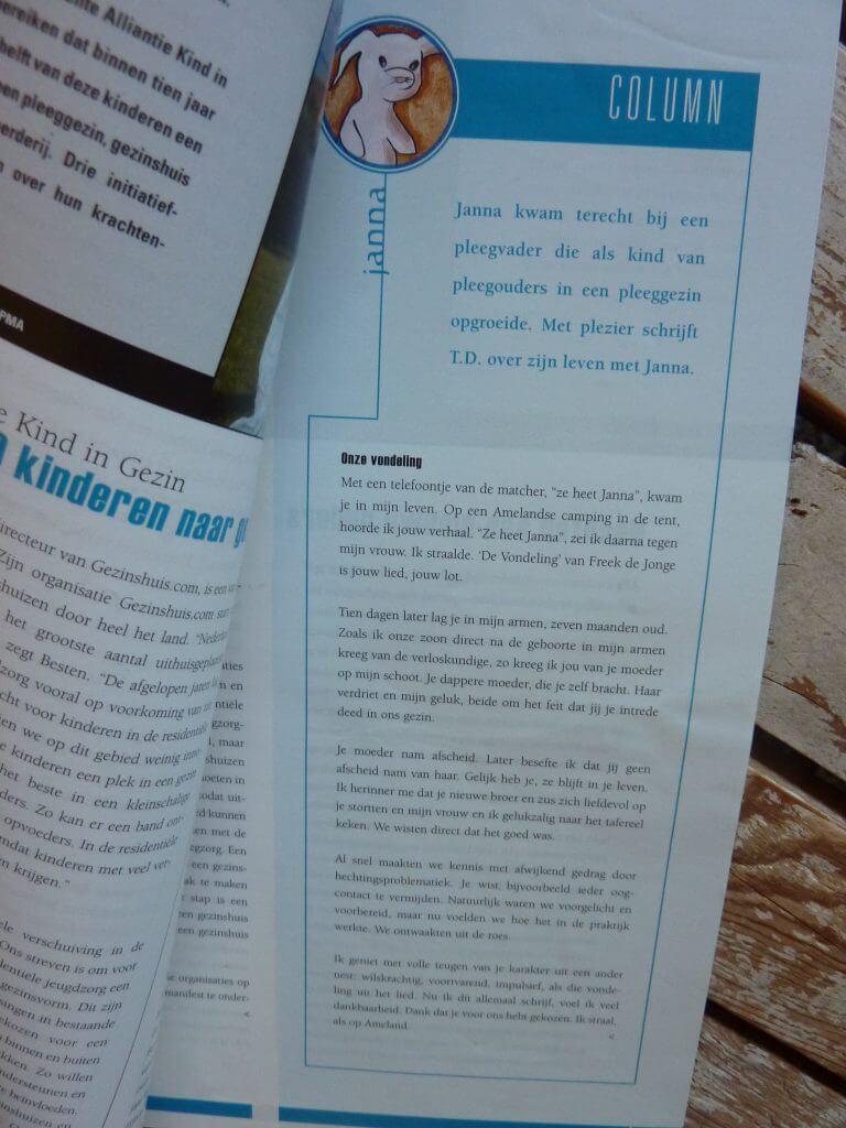 Een Zaak Van Communicatie - Jeroen Tollenaar, Mobiel, blad voor pleegzorg, columns 2, i.o.v. Mobiel