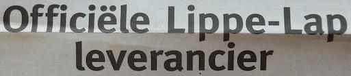 Paginagrote Lippe-Lap advertentie, jaren 90. Een Zaak Van Communicatie, Jeroen Tollenaar.
