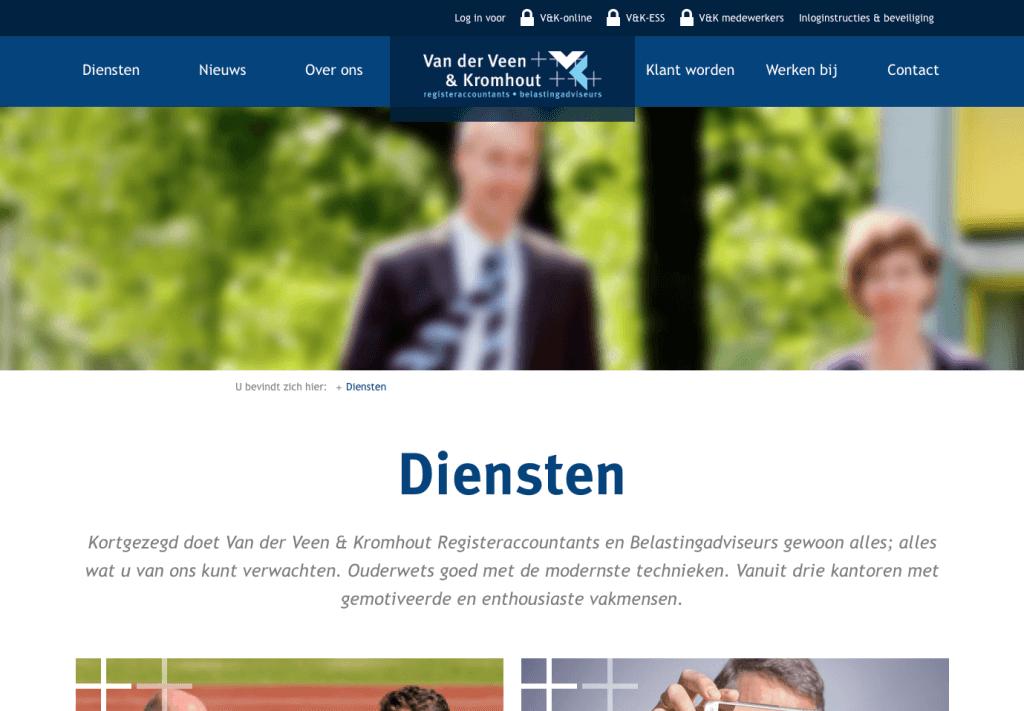 Website Van der Veen & Kromhout