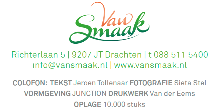 EZVC - Krant Van Smaak 2018 - colofon