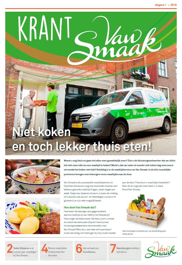 EZVC - Krant Van Smaak 2018 - voorpagina