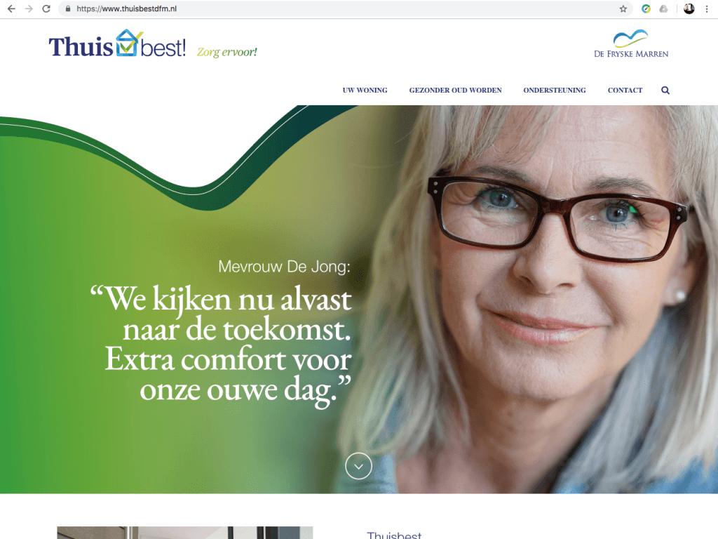 Een Zaak Van Communicatie - De Fryske Marren, website Thuis best - home