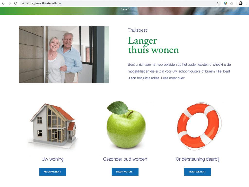 Een Zaak Van Communicatie - De Fryske Marren, website Thuis best - pagina 1