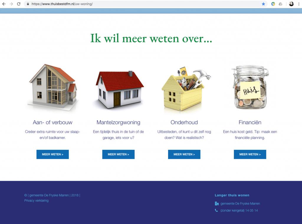 Een Zaak Van Communicatie - De Fryske Marren, website Thuis best - pagina 3