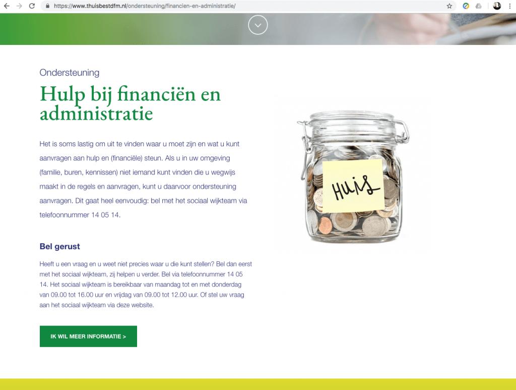 Een Zaak Van Communicatie - De Fryske Marren, website Thuis best - pagina 5