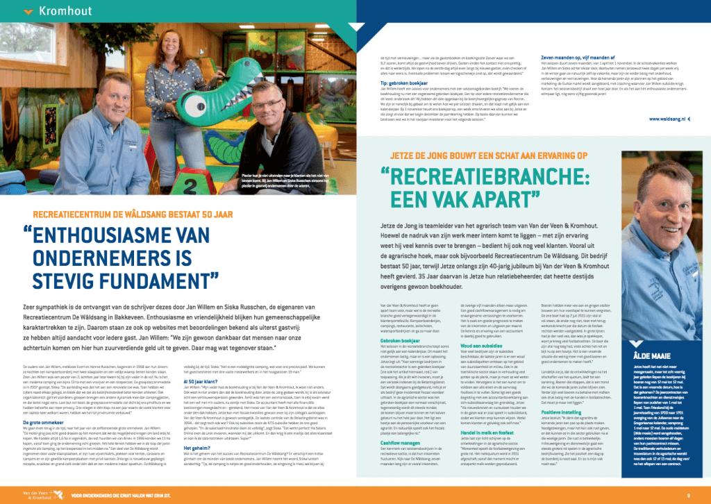 Een Zaak Van Communicatie - Kromhout dec 2018 - portret Recreatiecentrum De Waldsang plus relatiebeheerder