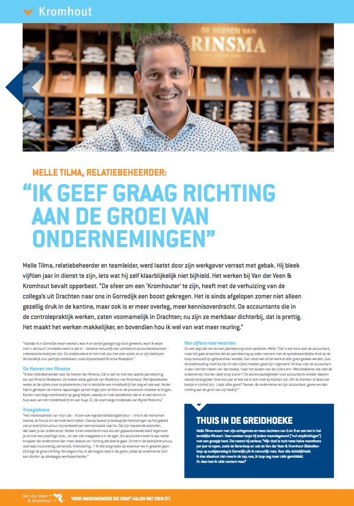 Een Zaak Van Communicatie - Kromhout dec 2018 - portret medewerker Melle Tilma