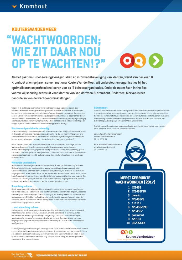 Een Zaak Van Communicatie - Kromhout dec 2018 - redactie-herschrijven aangeleverd artikel