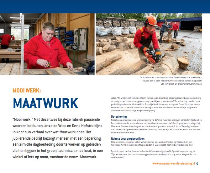 Een Zaak Van Communicatie - Kromhout dec 2018 - rubriek Mooi werk - Maatwurk
