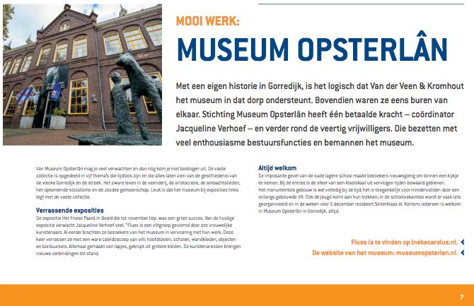 Een Zaak Van Communicatie - Kromhout dec 2018 - rubriek Mooi werk - Museum Opsterlan
