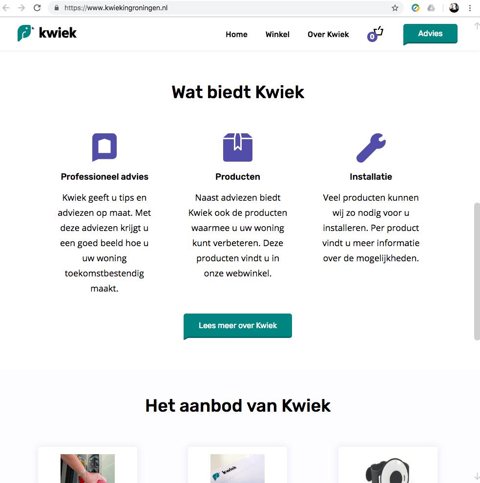 Een Zaak Van Communicatie - Kwiek, website - home